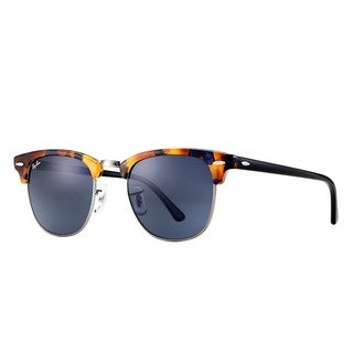 Ray-Ban RB3016 1158R5 Clubmaster Fleck Tortoise Black Frame Blue/Grey Classic 49mm Lens Sunglasses