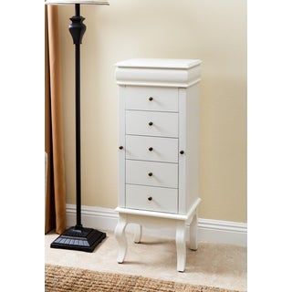 ABBYSON LIVING Almafi White Wooden Jewelry Armoire