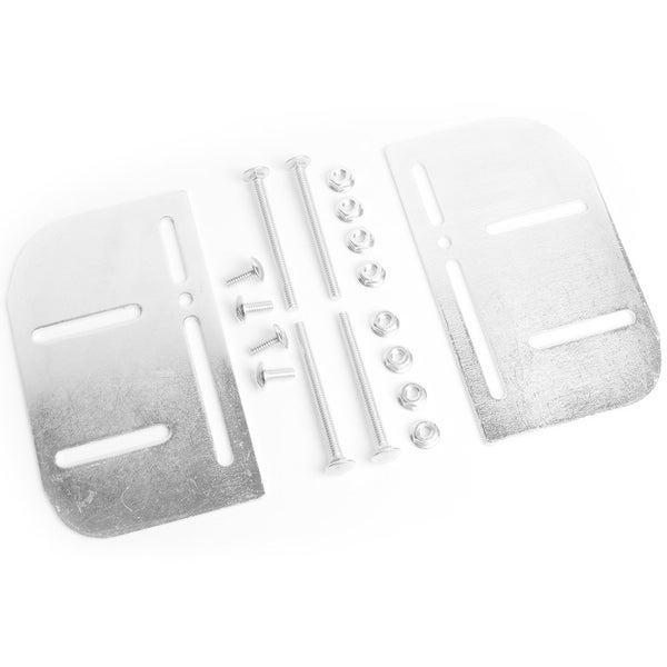 Mantua Silver Steel Bed Frame to Headboard Adapter Plates