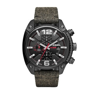 Diesel Men's Overflow Denim Strap Chronograph Dial Quartz Watch