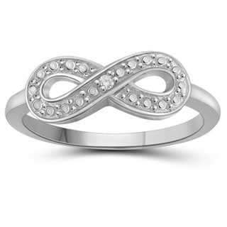 Jewelonfire Sterling Silver White Diamond Accent Infinity Ring
