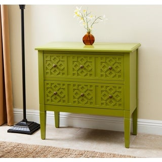 ABBYSON LIVING Harvard Lime Green Side Cabinet