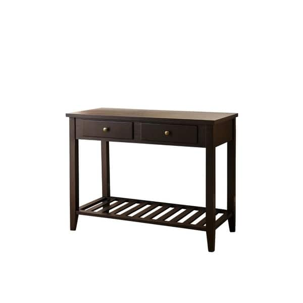 Shop Abbyson Contemporary Espresso Black Wood Sofa Table ...