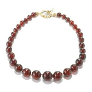 Michael Valitutti Amber Beaded Necklace with Citrine Toggle Accent|https://ak1.ostkcdn.com/images/products/11897653/P18792010.jpg?impolicy=medium