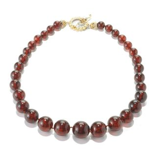 Michael Valitutti Amber Beaded Necklace with Citrine Toggle Accent