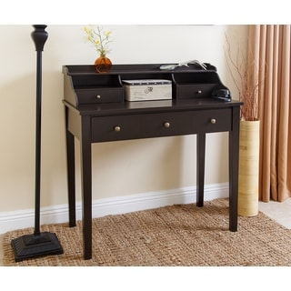 Abbyson Enzo Espresso Wood Secretary Writing Desk