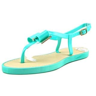 Qupid Women's 'Jammy 06' Blue Synthetic Open-toe Sandals