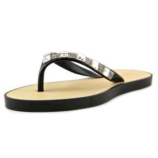 Qupid Women's Jammy 08 Black Synthetic Sandals