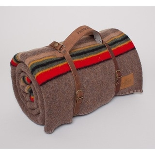 Pendleton Yakima Camp Blanket Twin With Leather Carrier