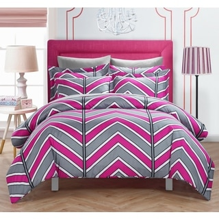 Chic Home Dallas Fuchsia 9-Piece Bed in a Bag with Sheet Set