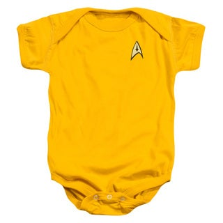 Star Trek/Command Uniform Infant Snapsuit in Gold - 6Mos
