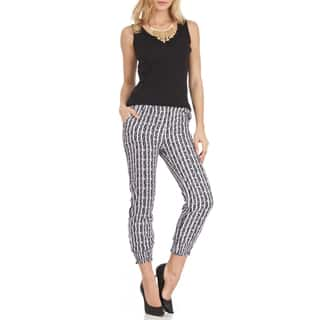 Women's Jagger Trendy Black-and-white Striped Polyester Soft Pants|https://ak1.ostkcdn.com/images/products/11897817/P18792094.jpg?impolicy=medium