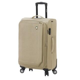 Mia Toro ITALY Madesimo Blue/Red/Black/Khaki Polyester 24-inch Expandable Spinner Upright Suitcase (Option: Khaki)