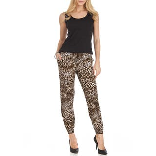 Jagger Cheetah-print Chiffon/ Polyester Loose-fit Pants|https://ak1.ostkcdn.com/images/products/11897851/P18792156.jpg?impolicy=medium