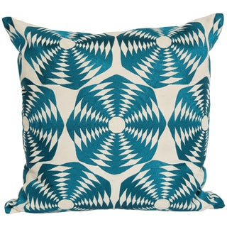 Wanderloot 20-inch Handmade Goa Cotton Geometric Accent Throw Pillow Cover (India)