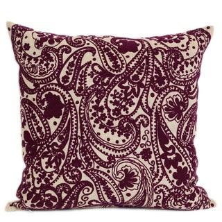 Wanderloot 20-inch Handmade Kashmir Linen Accent Throw Pillow Cover (India)