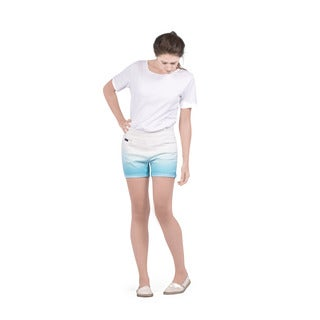 Bluberry Women's Light Blue Limpet-shell Dip-dyed Shorts