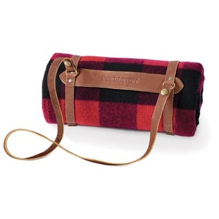 Pendleton Rob Roy Blanket With Leather Carrier|https://ak1.ostkcdn.com/images/products/11897985/P18792365.jpg?impolicy=medium