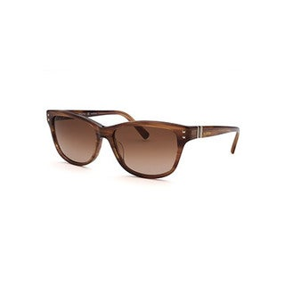 Valentino Women's Square Striped Brown Sunglasses
