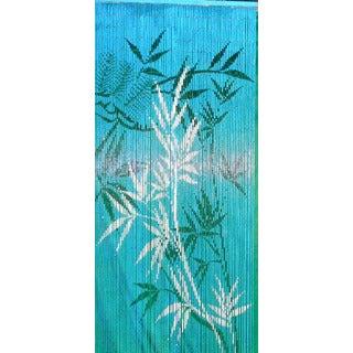 Handmade Blue Bamboo Scene Curtain (Vietnam)
