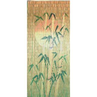 Handmade Orange Sun Silhouette Bamboo Curtain (Vietnam)