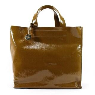 Furla Brown Patent Leather Women's Tote