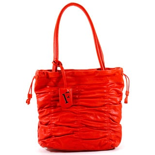 Furla Red Leather Women's Tote