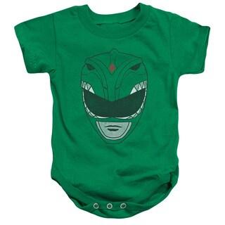 Power Rangers/Green Ranger Infant Snapsuit in Kelly Green
