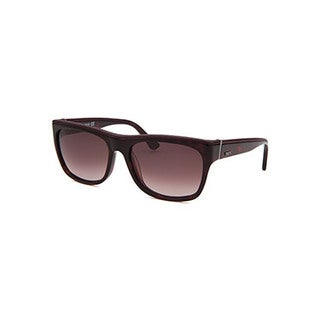 Tod's Women's Tortoise/Red Plastic Small Square Sunglasses
