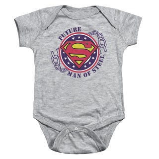 Superman/Future Man Of Steel Infant Snapsuit in Heather