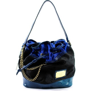 Who's Who Blue Man Made Women's Shoulder Bag