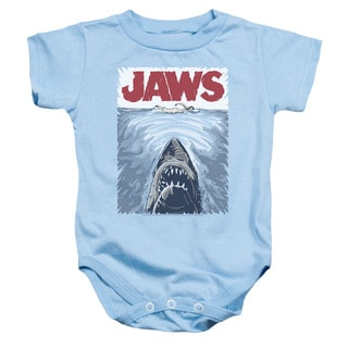 Jaws/Graphic Poster Infant Snapsuit in Light Blue