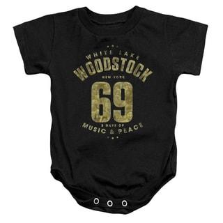 Woodstock/White Lake Infant Snapsuit in Black