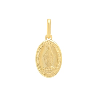 Sterling Essentials Italian 14K Gold 12 x 9 mm Miraculous Medal Pendant
