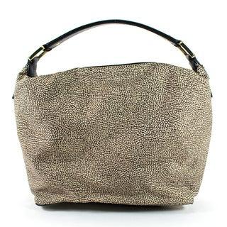 Borbonese Brown Man Made Women's Hobo Handbag