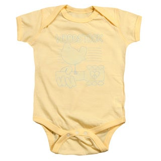 Woodstock/Liney Logo Infant Snapsuit in Banana