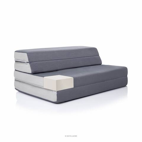 LUCID Comfort Collection 4-inch Folding Sofa