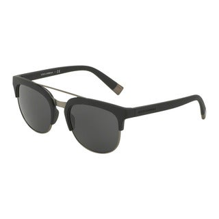 D&G Men's DG6103 193487 Black Plastic Square Sunglasses