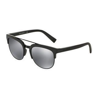 D&G Men's DG6103 501/6G Black Plastic Square Sunglasses