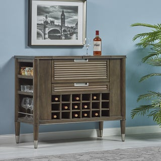 Contemporary Cappuccino Wood Bar Cabinet