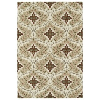 Hand-Tufted Perry Sand Medallions Wool Rug (8'0 x 10'0)
