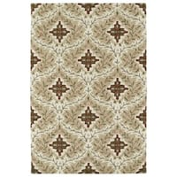 Hand-Tufted Perry Sand Medallions Wool Rug (8' x 10')