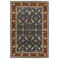 Hand-Tufted Perry Charcoal Global Wool Rug - 5' x 7'9""