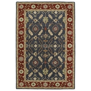 Hand-Tufted Perry Charcoal Global Wool Rug (8'0 x 10'0)