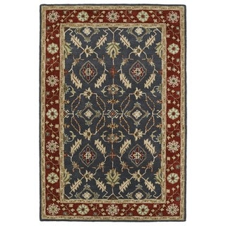 Hand-Tufted Perry Charcoal Global Wool Rug (9'0 x 12'0)