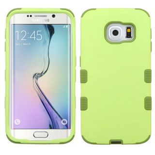 Insten Green Tuff Hard PC/ Silicone Dual Layer Hybrid Rubberized Matte Case Cover For Samsung Galaxy S6 Edge