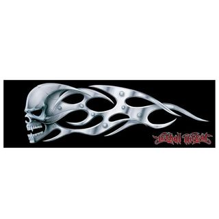 Pilot Automotive 3-inch x 10-inch Skull Blade Vehicle Car Decal Stickers (Set of 2)