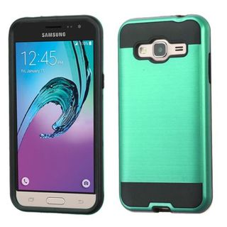 Insten Hard PC/ Silicone Dual Layer Hybrid Rubberized Matte Case Cover For Samsung Galaxy J3