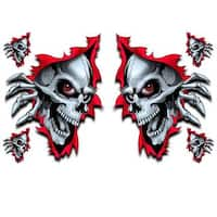 Pilot Automotive 6-inch x 8-inch Rest In Peace Skull Vehicle Car Decal Stickers