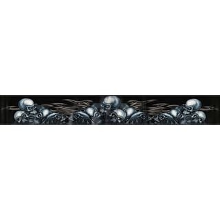 Pilot Automotive 5-inch x 60-inch  Skull Pile Sunvisor Vehicle Car Decal Stickers